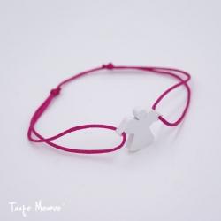 Bracelet Ange Gardien (blanc et fushia)