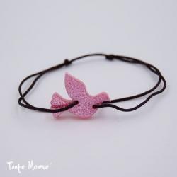Bracelet HOPE (personnalisable) pailleté rose