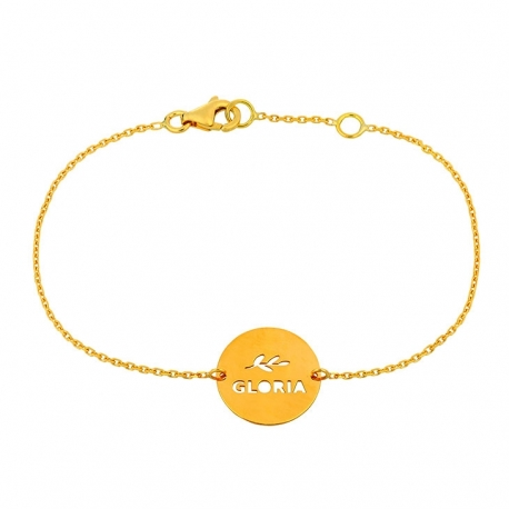 "Bracelet Message ""Gloria"""