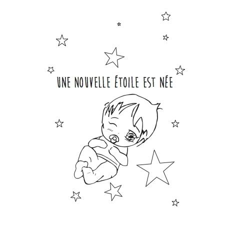 """Coloriage """"une nouvelle étoile"""" A TELECHARGER"""