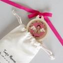 Médaille de berceau Jour/Nuit rose
