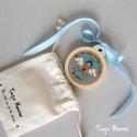 Médaille de berceau Jour/Nuit bleue