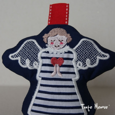 Ange gardien en Tissu (Marin)
