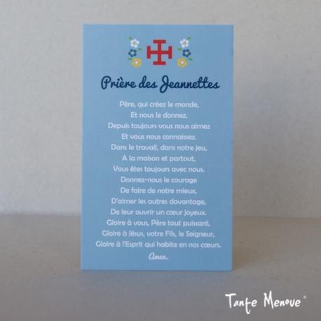 "Carte ""Prière Jeannette"""