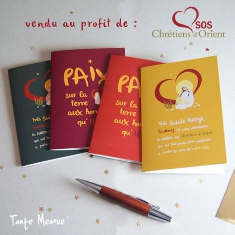 Pack de 4 Cartes de vœux SOS Chrétiens d'Orient