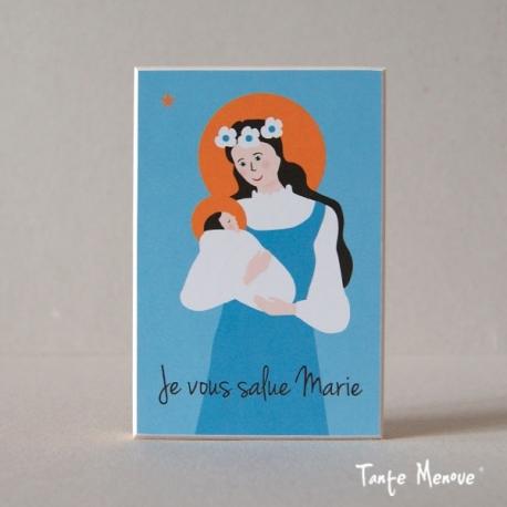 """Icône (petit modèle) """"Je vous salue Marie"""""""