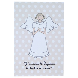Image « De tout mon cœur » Beige (Personnalisable)