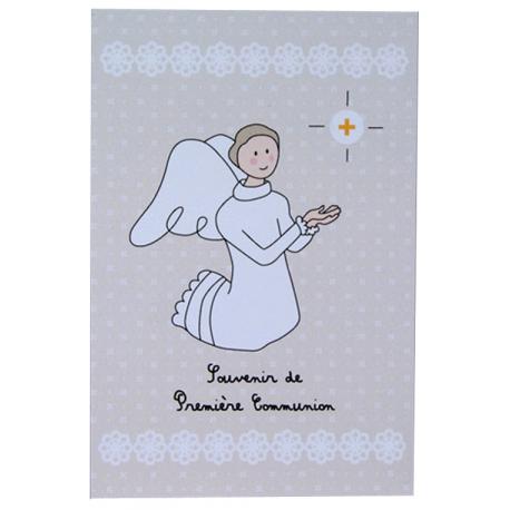 Image « Souvenir de première communion » beige (Personnalisable)