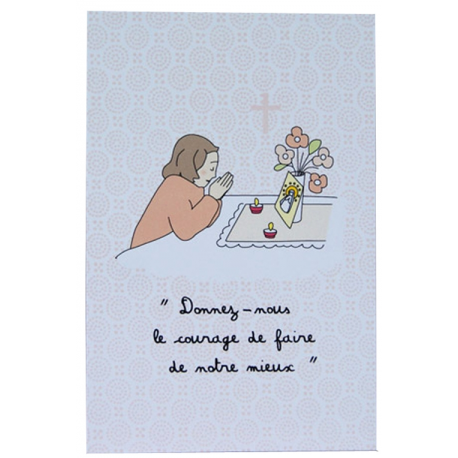 Image « Petite prière » Fille  (Personnalisable)