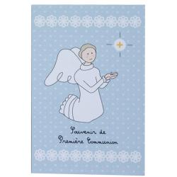 Image « Souvenir de première communion » Bleu (Personnalisable)