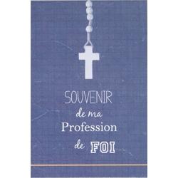Image « Souvenir de ma profession de foi » (bleue)