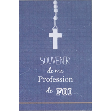 Image « Souvenir de ma profession de foi » (bleue) (Personnalisable)