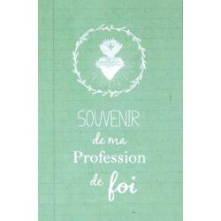 Image « Souvenir de ma profession de foi » (verte)