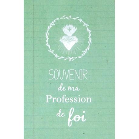Image « Souvenir de ma profession de foi » verte (Personnalisable)