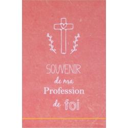 Image « Souvenir de ma profession de foi » (rose)