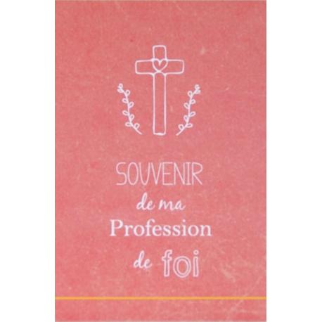 Image « Souvenir de ma profession de foi » (rose) (Personnalisable)