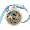 Médaille de berceau Jour/Nuit (Bleue)