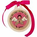 Médaille de berceau Jour/Nuit (rose)