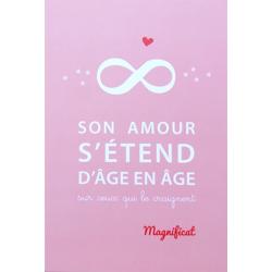 Image « Son amour s'étend d'âge en âge »   (Personnalisable)
