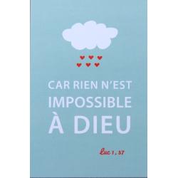 Image « Car rien n'est impossible à Dieu »   (Personnalisable)