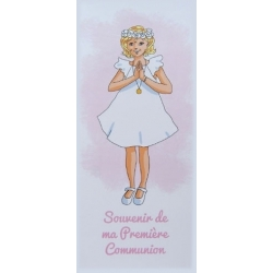 """Marque-page """" Souvenir de ma première communion"""" 2   (Personnalisable)"""