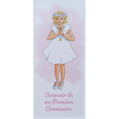 """Marque-page """" Souvenir de ma première communion"""" blonde   (Personnalisable)"""
