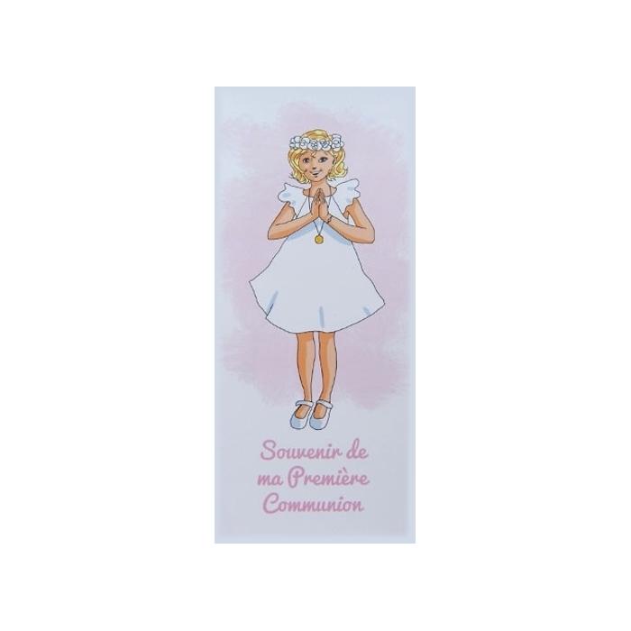 """Connu Signet """"Souvenir de ma première communion"""" Fille QD26"""