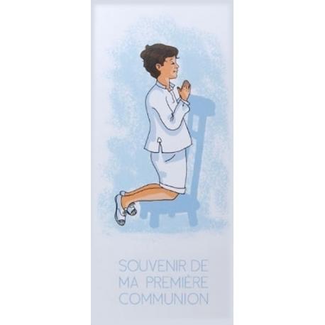 """Marque-page """" Souvenir de ma première communion"""" brun  (Personnalisable)"""