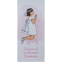 """Marque-page """" Souvenir de ma première communion"""" brune (Personnalisable)"""