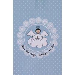 Carte de prière Ange Bleu