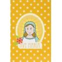 """Carte de prière """"Ave Maria"""" (orange)"""