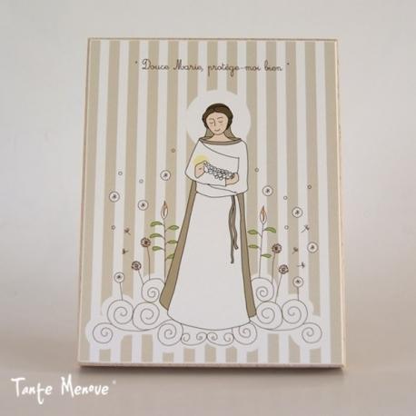Icône (grand modèle) Vierge de douceur beige