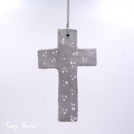 Croix Patinée grise
