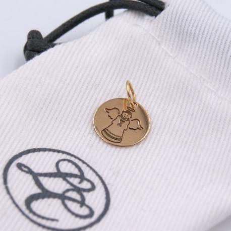 """Mini Médaille """"Mon ange"""" en or"""