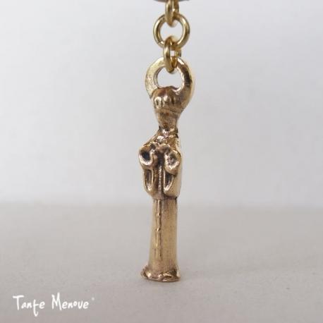 Porte-clés St François d'Assise en bronze