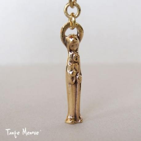 Porte-clés Ste Odile en bronze
