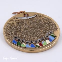 """Médaille """"La Cène"""" en bronze émaillé"""