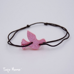 Bracelet HOPE (personnalisable) pailleté rose