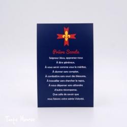 """Carte """"Prière Scoute"""" d'Europe"""