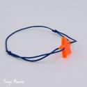 Bracelet Etoile Avec toi (orange fluo et marine)