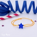 Bracelet Etoile Avec toi (bleu et safran)