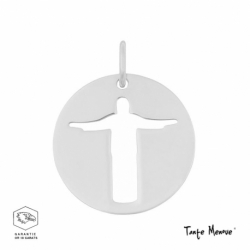 Medaille Christ de Rio (MINI) en OR BLANC