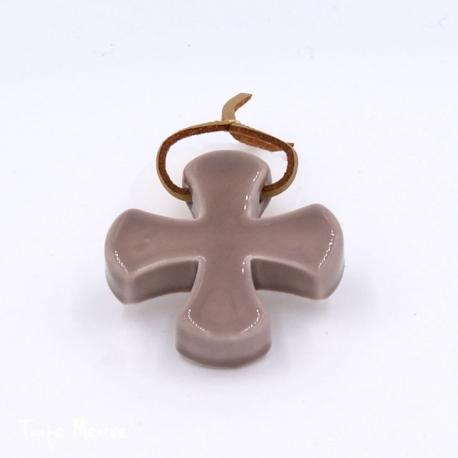 Croix « Grecque » taupe