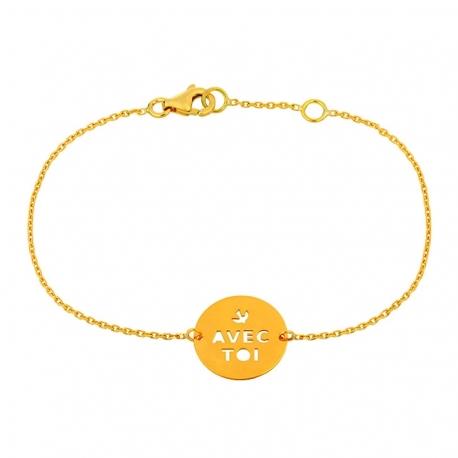 """Bracelet Message """"Avec  toi"""""""