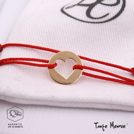 Bracelet Mini Coeur en or