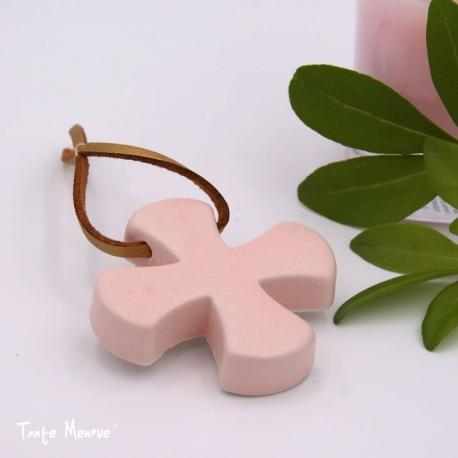 Croix Grecque Rose poudré