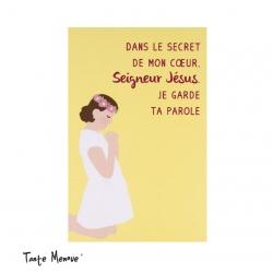Image Color « Dans le secret de mon coeur » jaune   (Personnalisable)