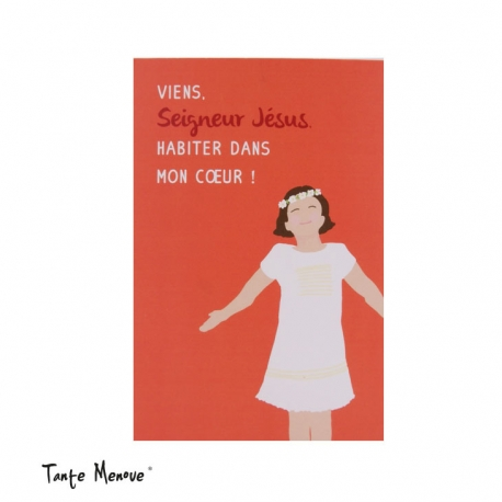 Image « Viens habiter dans mon cœur » Orange  (Personnalisable)
