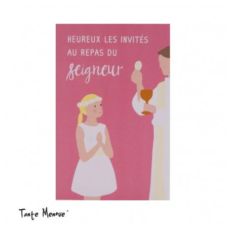 Image « Heureux les invités » Rose (Personnalisable)