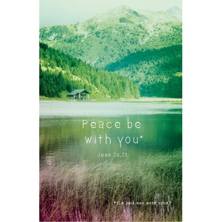 Image « Peace be with you » verte (Personnalisable)